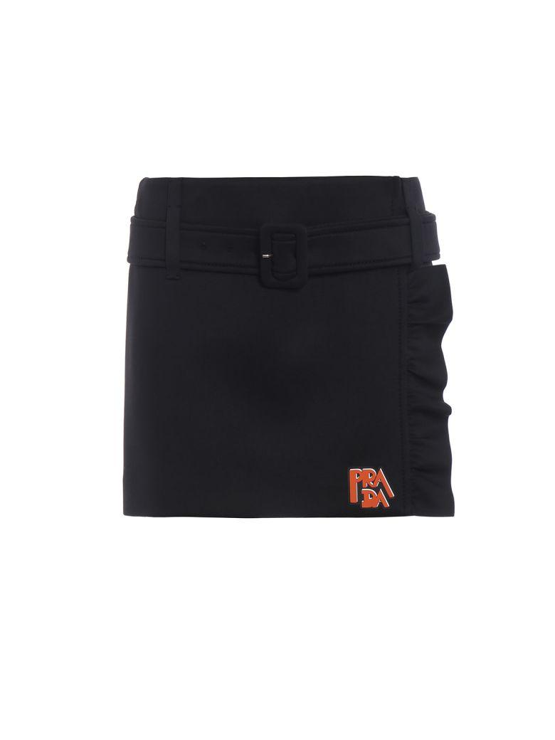 Prada Tecno Jersey Skirt - Nero+nero