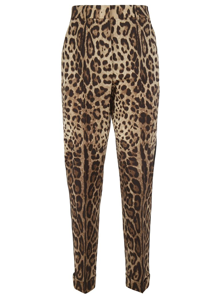 Dolce & Gabbana Leopard Print Trousers - leopard print