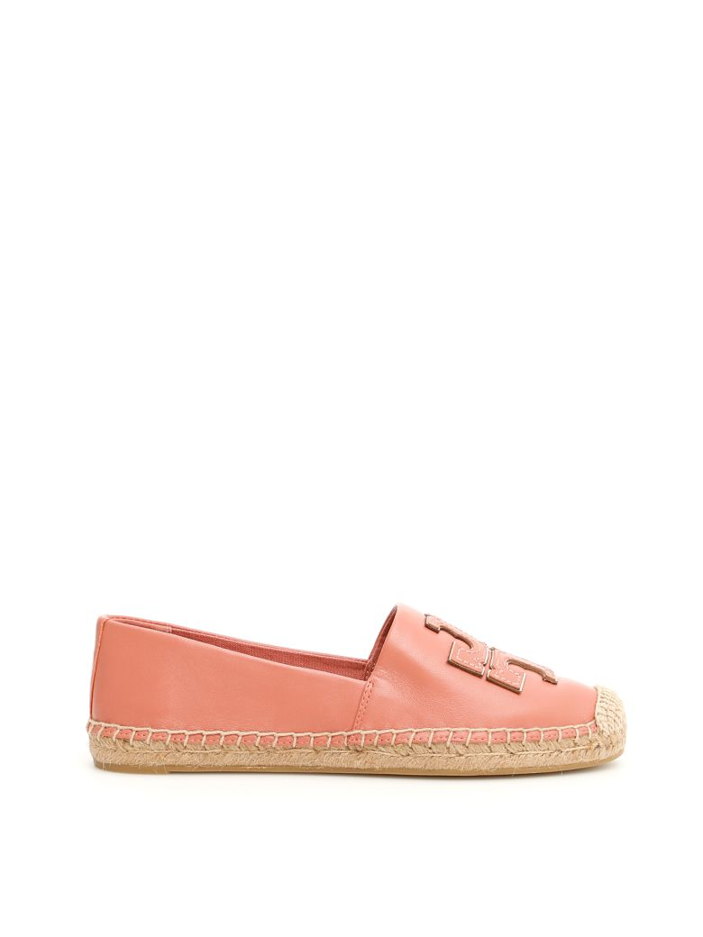 Tory Burch Ines Leather Espadrilles - TRAMONTO/TRAMONTO/SPARKGOLD (Pink)