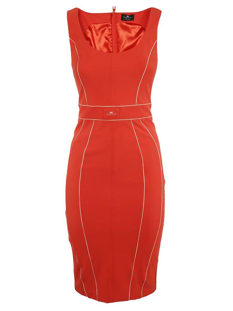 Elisabetta Franchi Celyn B. Elisabetta Franchi For Celyn B. Logo Plaque Dress - Orange