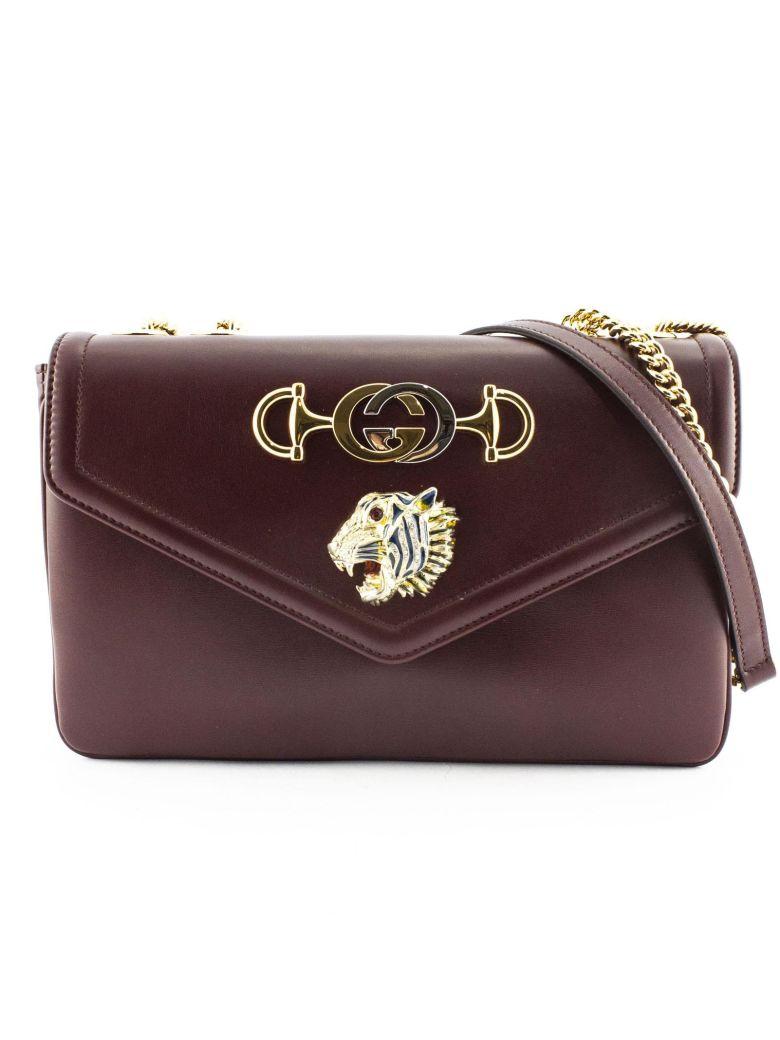 Gucci Shoulder Bag Rajah In Bordeaux Leather - Bordo