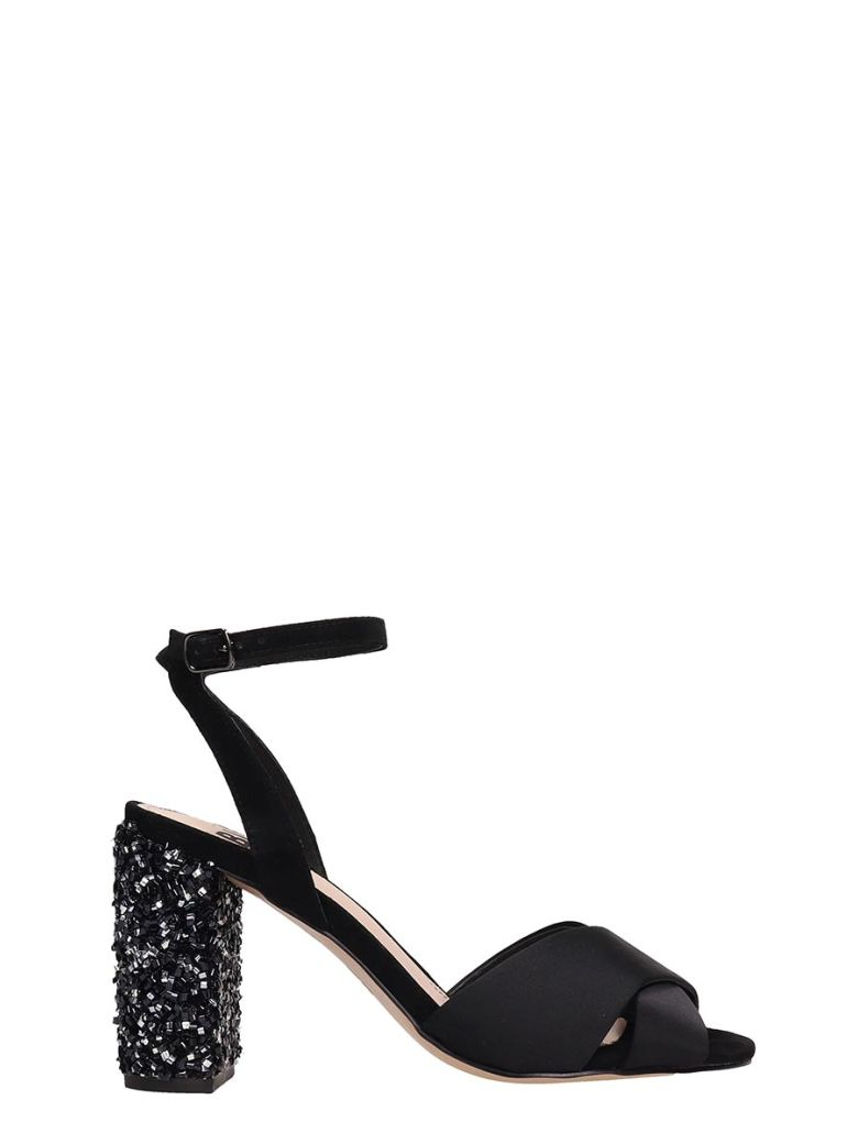 Bibi Lou Black Satin Sandals - black