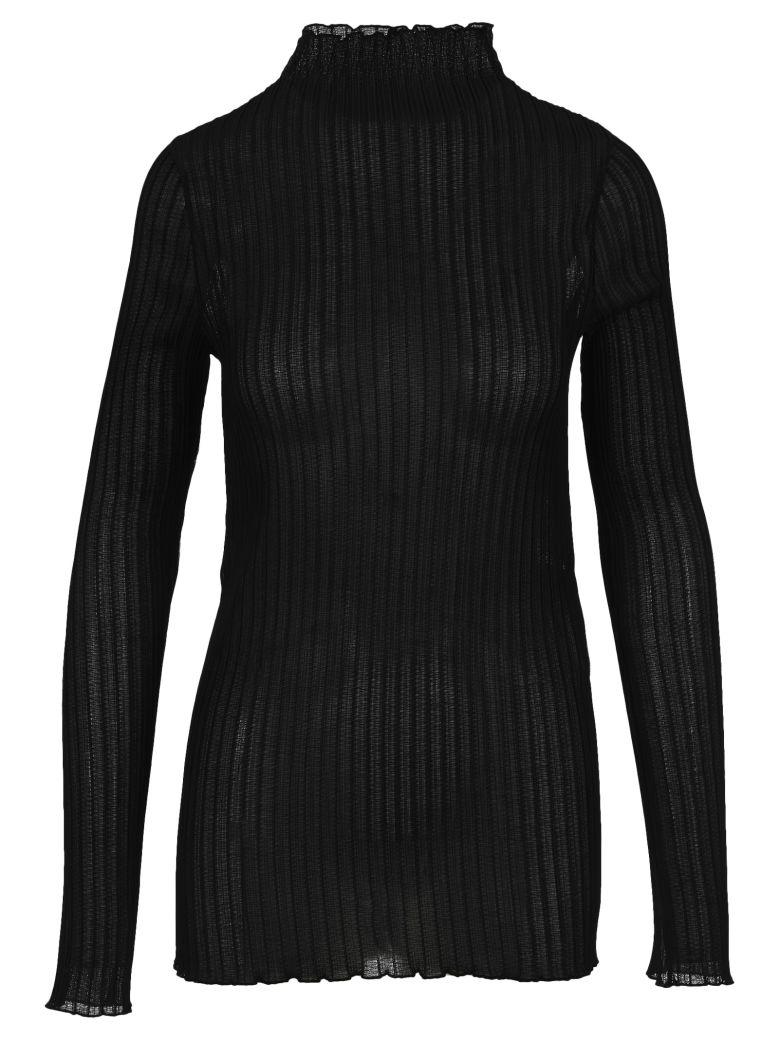 Jil Sander Ribbed-knit Turtleneck Top - BLACK