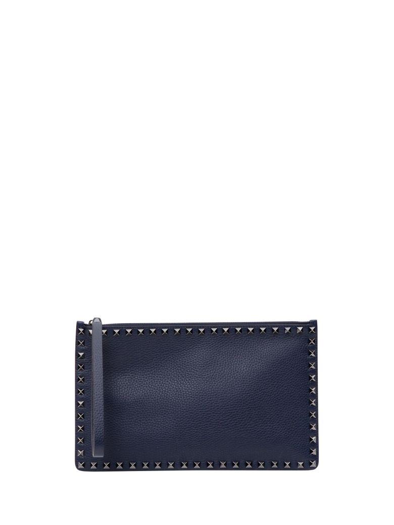 Valentino Garavani Rockstud Large Flat Pouch - Blu