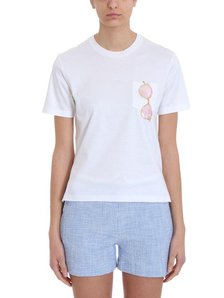 Thom Browne Trompe L'oiel Sunglasses Patch T-shirt - white