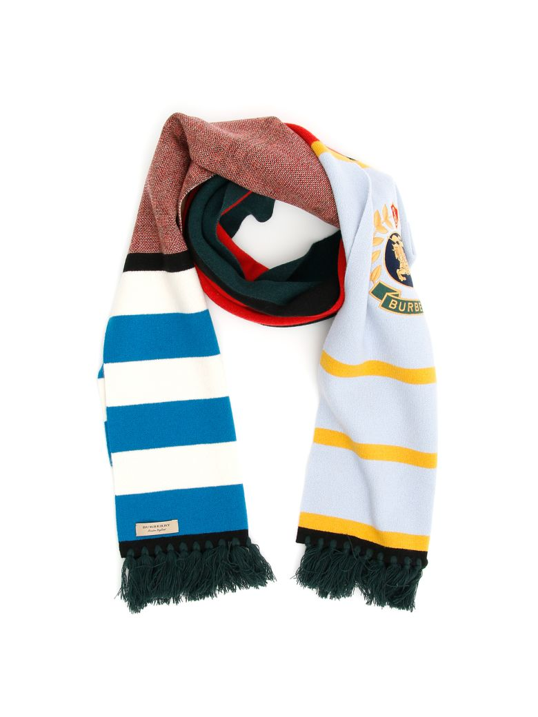 Burberry Crest Football Scarf - MULTICOLOUR|Celeste