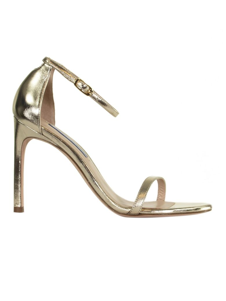 Stuart Weitzman High Heel Sandals - GOLD