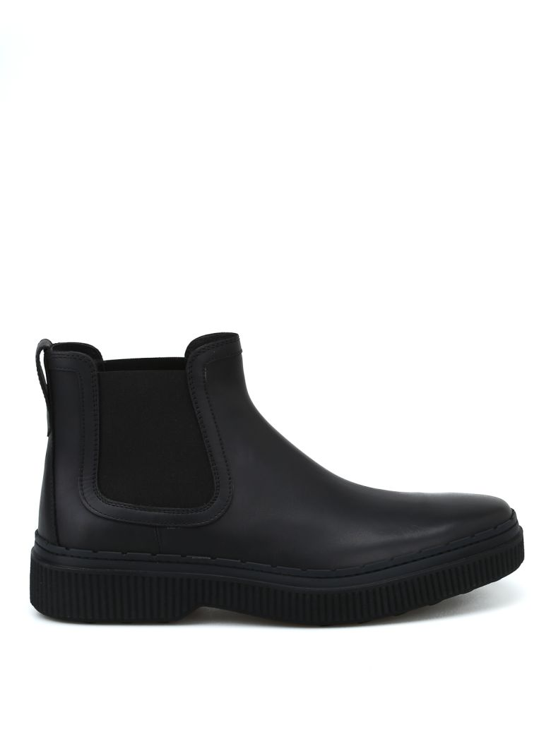 Tod's Ankle Boots In Leather - Black