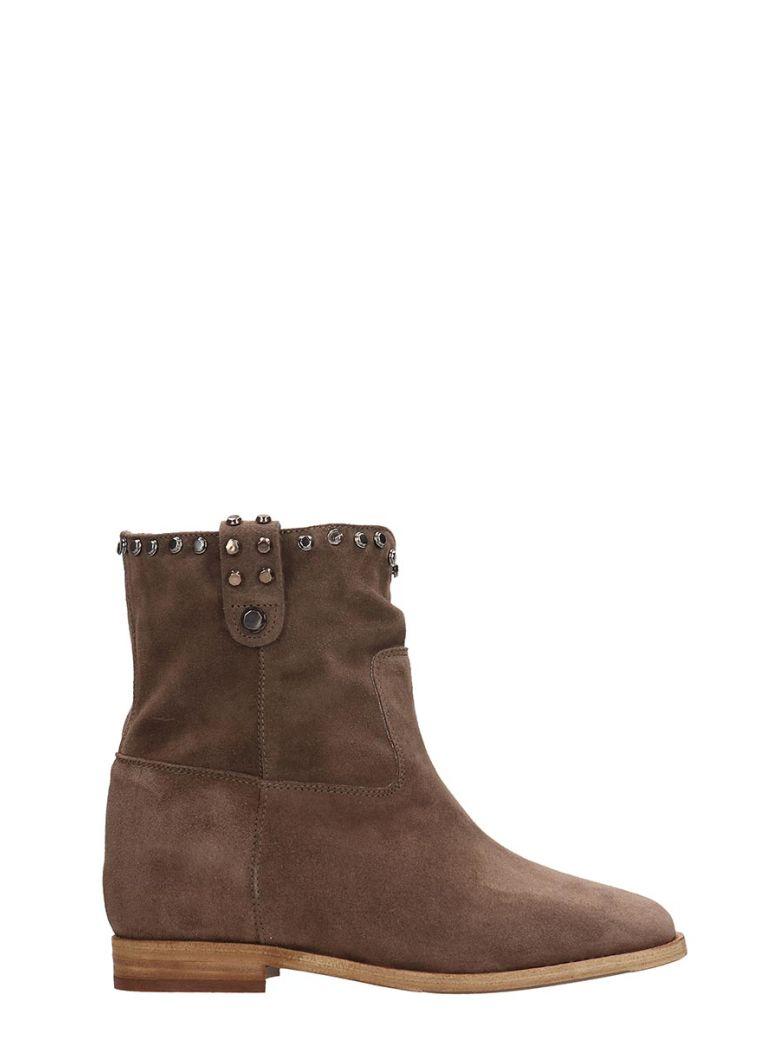 Julie Dee Browne Suede Ankle Boots - Brown