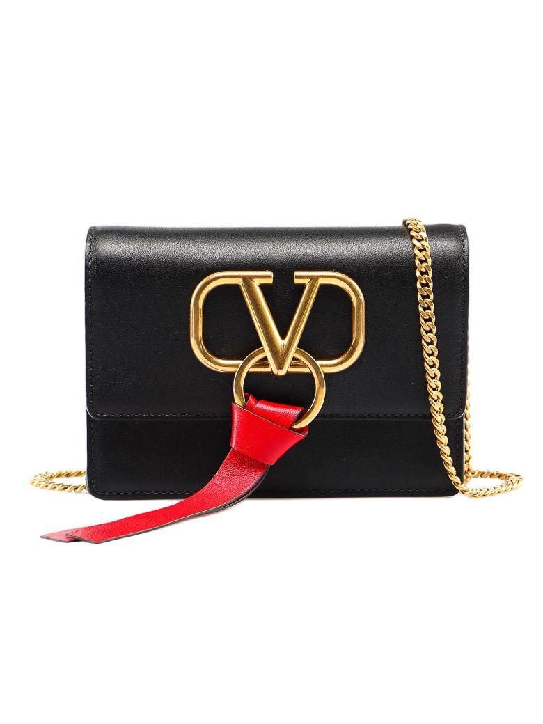 Valentino Garavani Crossbody Vring Pouch - No Nero/rouge Pure
