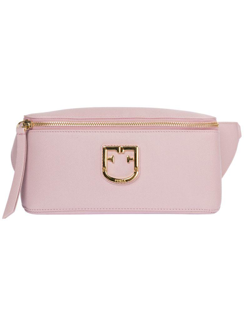 Furla  Leather Belt Bum Bag Hip Pouch Isola - Green