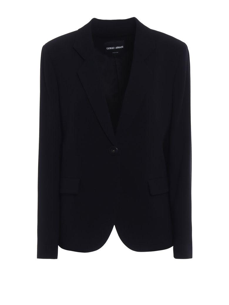 Giorgio Armani One Button Blazer - Black