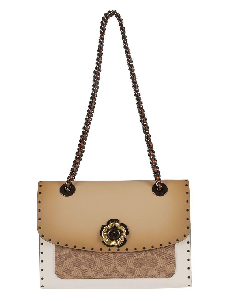 Coach Twist-lock Shoulder Bag - Beige