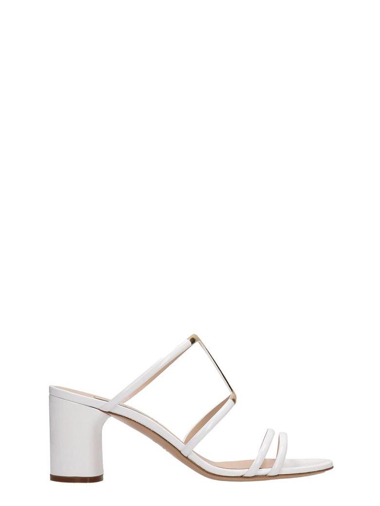 Casadei White Patent Leather Sandals H - White