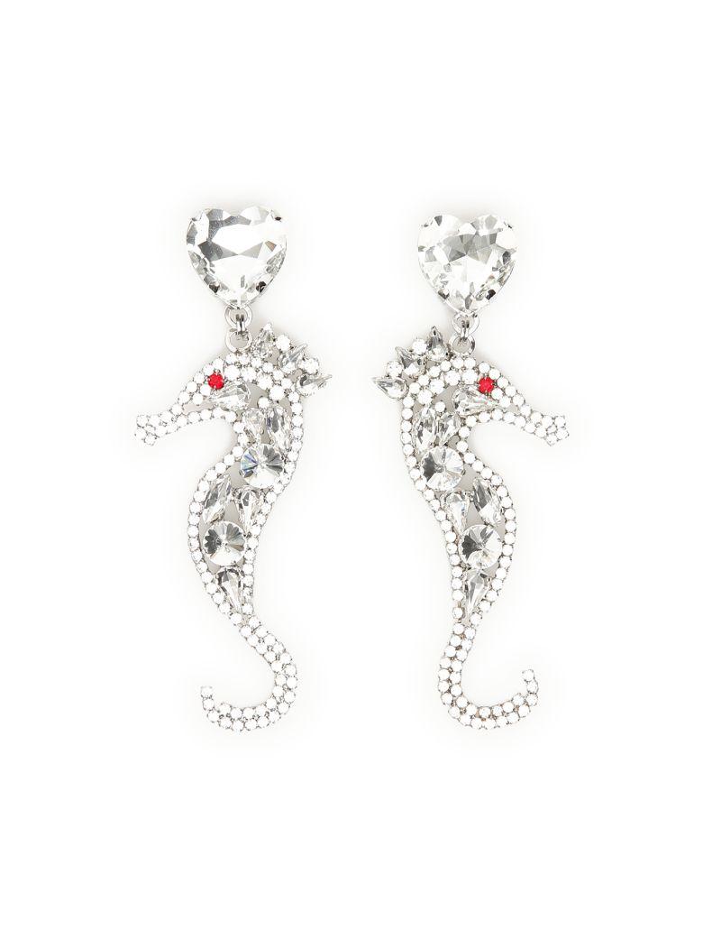 Alessandra Rich Crystal Seahorse Earrings - Basic