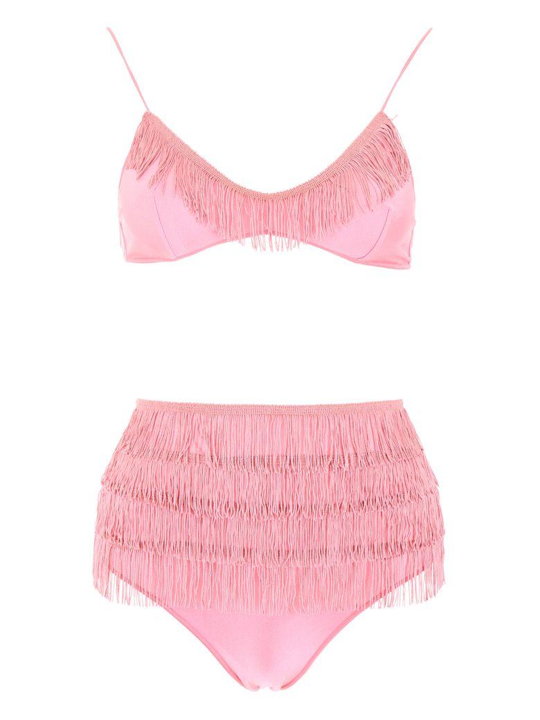 Oseree Fringed Charleston Bikini - PINK (Pink)