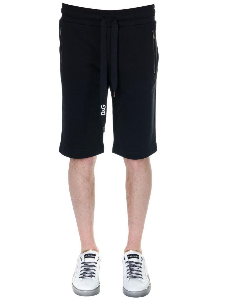 Dolce & Gabbana Black Cotton Sport Shorts - Black
