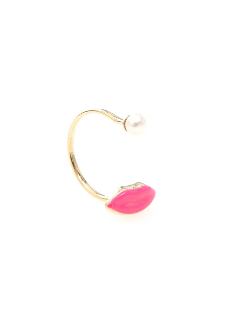 Delfina Delettrez Lips Ring 9kt Gold - Basic