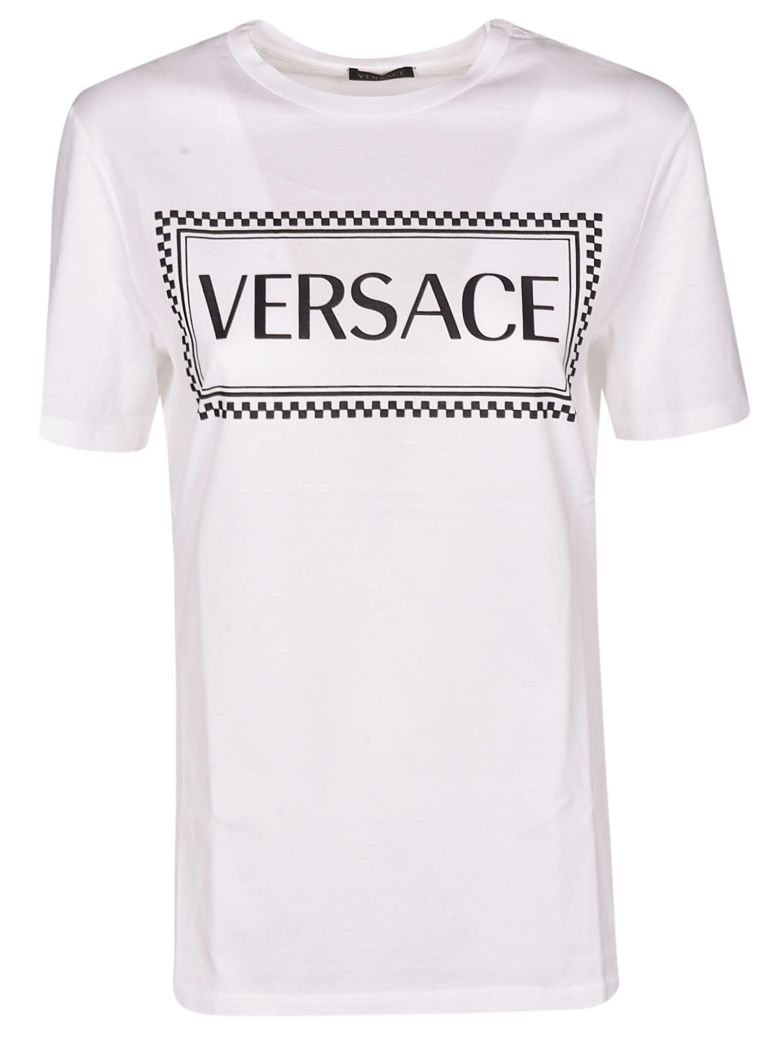 Versace Logo Print T-shirt - White
