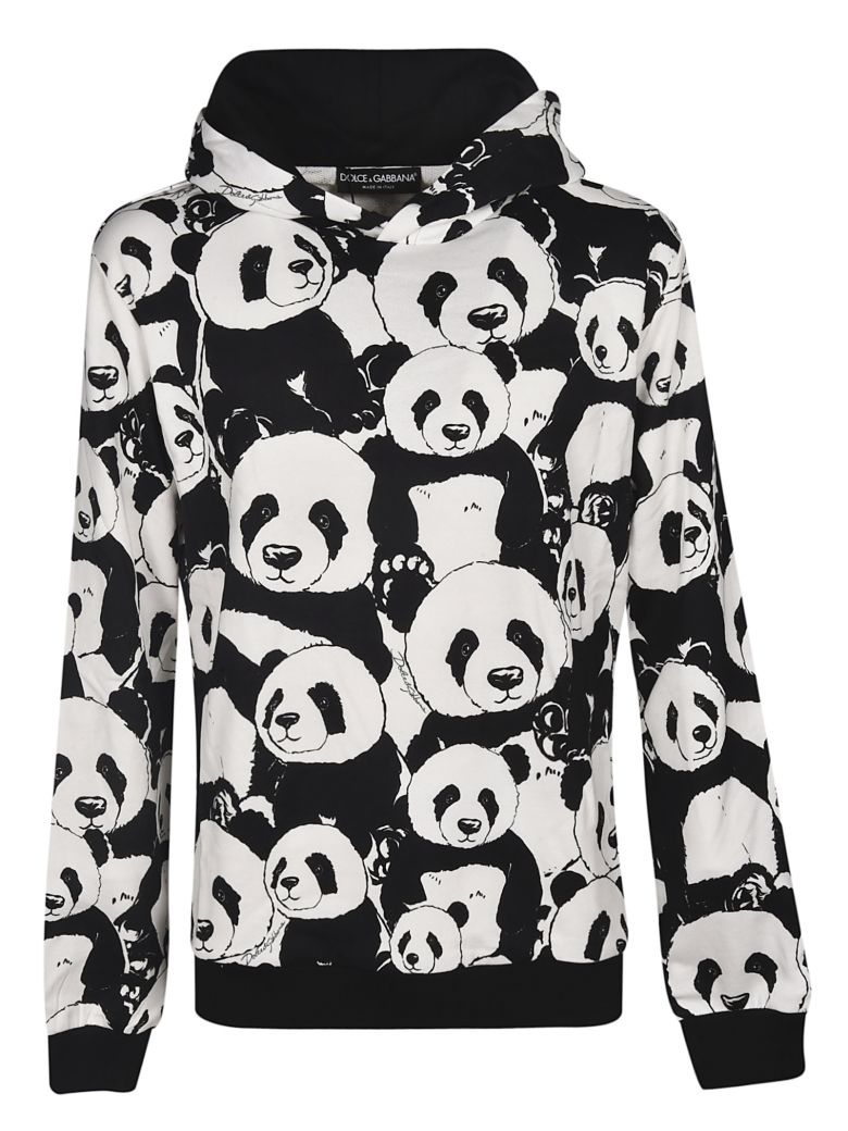 Dolce & Gabbana Panda Print Hoodie - White