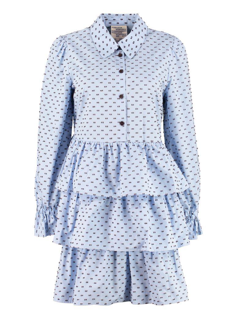Baum und Pferdgarten Anya Poplin Mini Dress - Blue