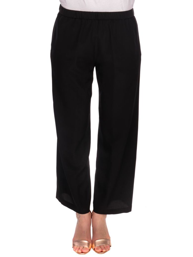 Aspesi Aspesi Silk Pants - Black