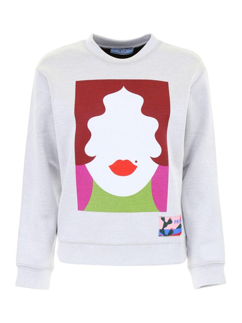 Prada Linea Rossa Printed Sweatshirt - BIANCO+NERO|Grigio