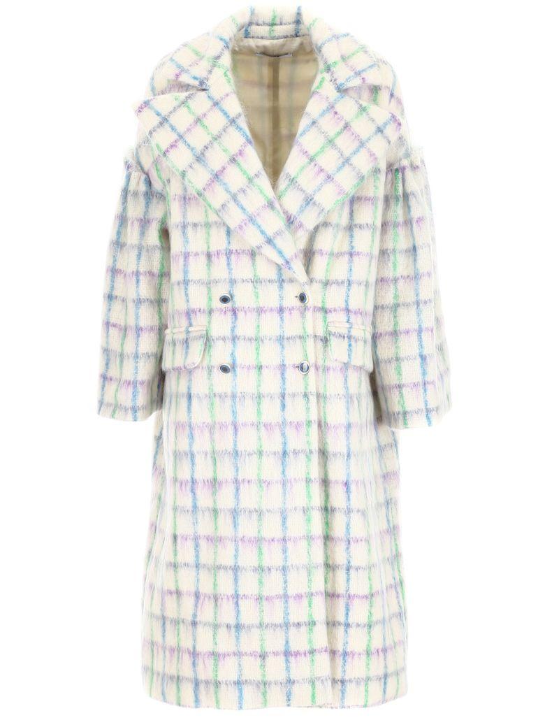 Vivetta Check Coat - WHITE MULTI|Bianco