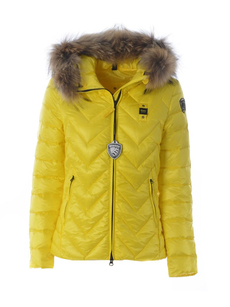 Blauer Fur Trimming Padded Jacket - Giallo