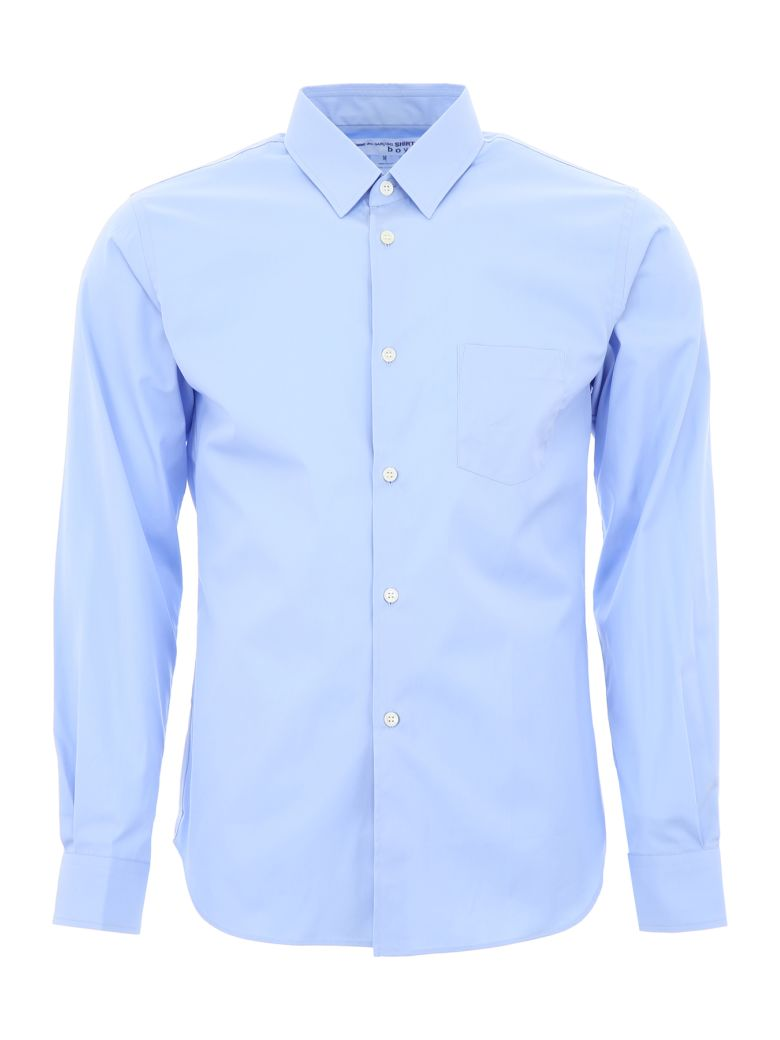 Comme des Garçons Shirt Boy Shirt With Logo On The Back - LIGHT BLUE (Light blue)