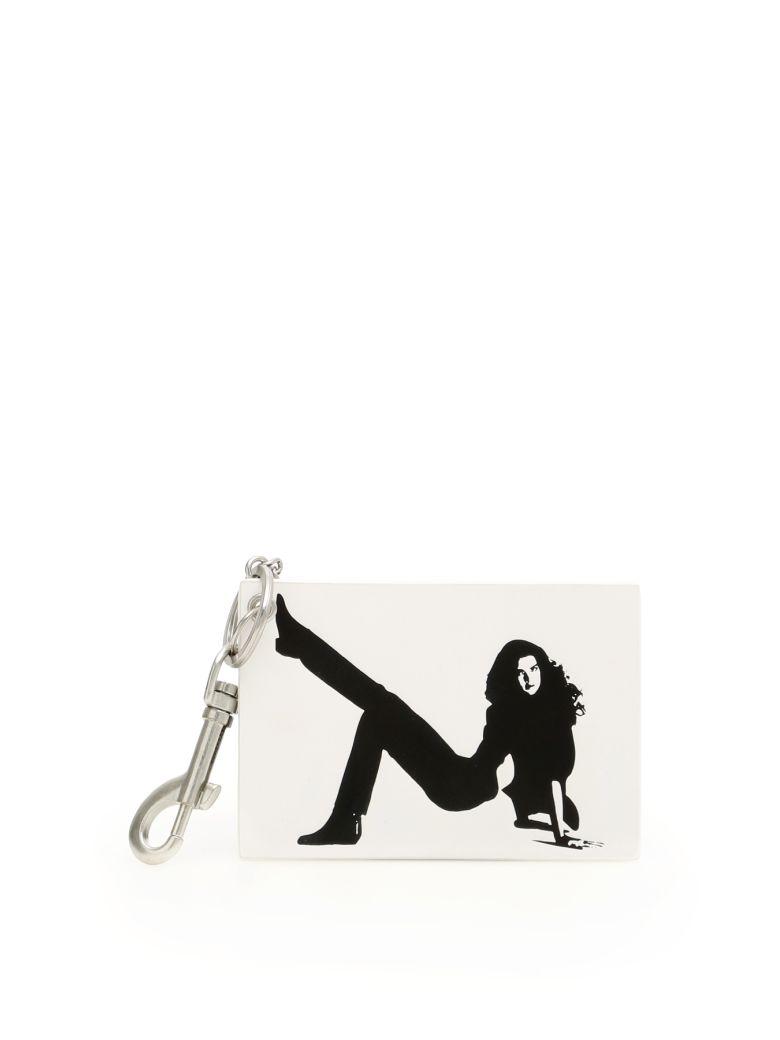 Calvin Klein Unisex Icon Key Charm - BRIGHT WHITE|Bianco