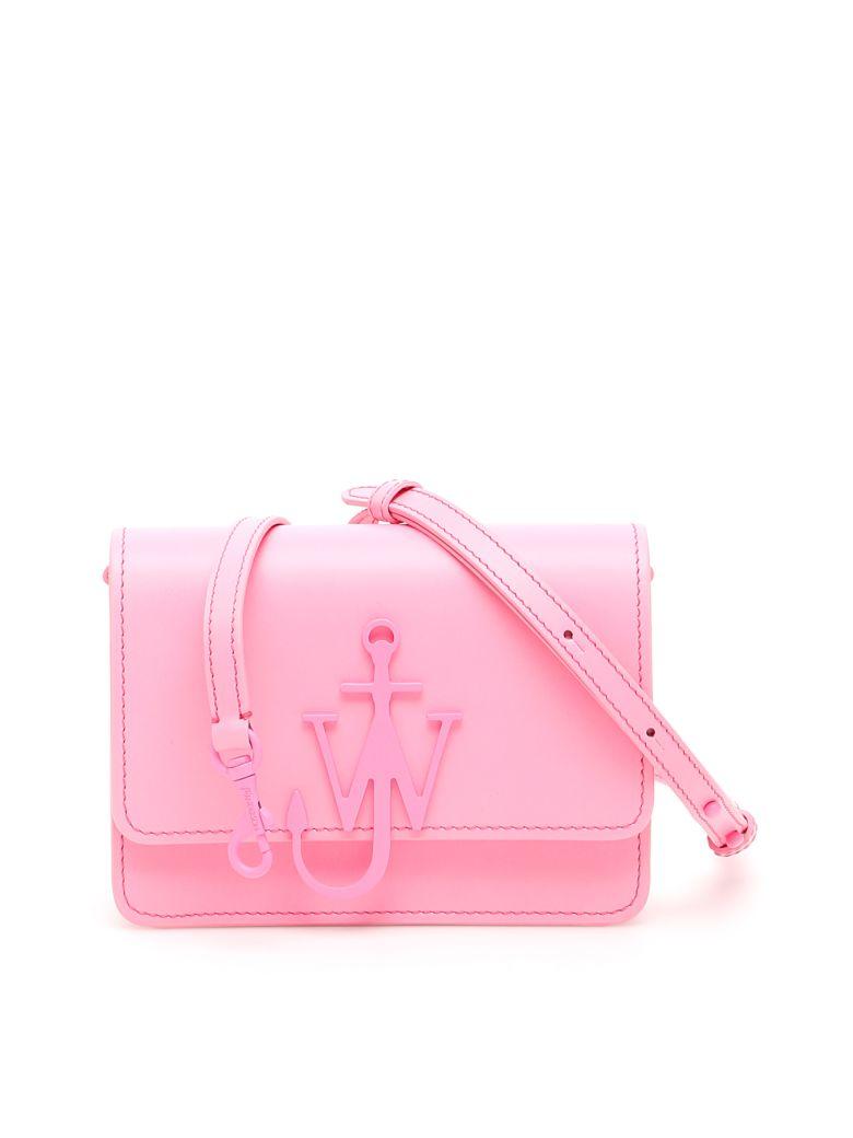 J.W. Anderson Leather Logo Purse - MALIBU FUXIA (Pink)