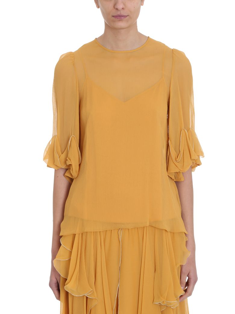 See by Chloé Georgette Blouse - yellow