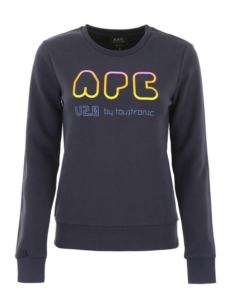 A.P.C. Logo Sweatshirt - MARINE|Blu