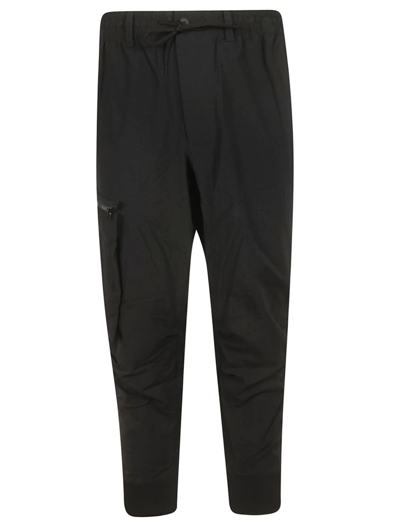 Y-3 Cropped Cargo Trousers - Black
