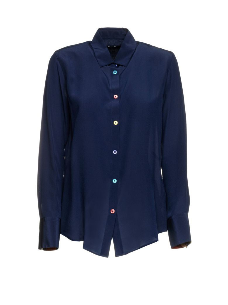 Paul Smith Paul Smith Silk Shirt - NAVY