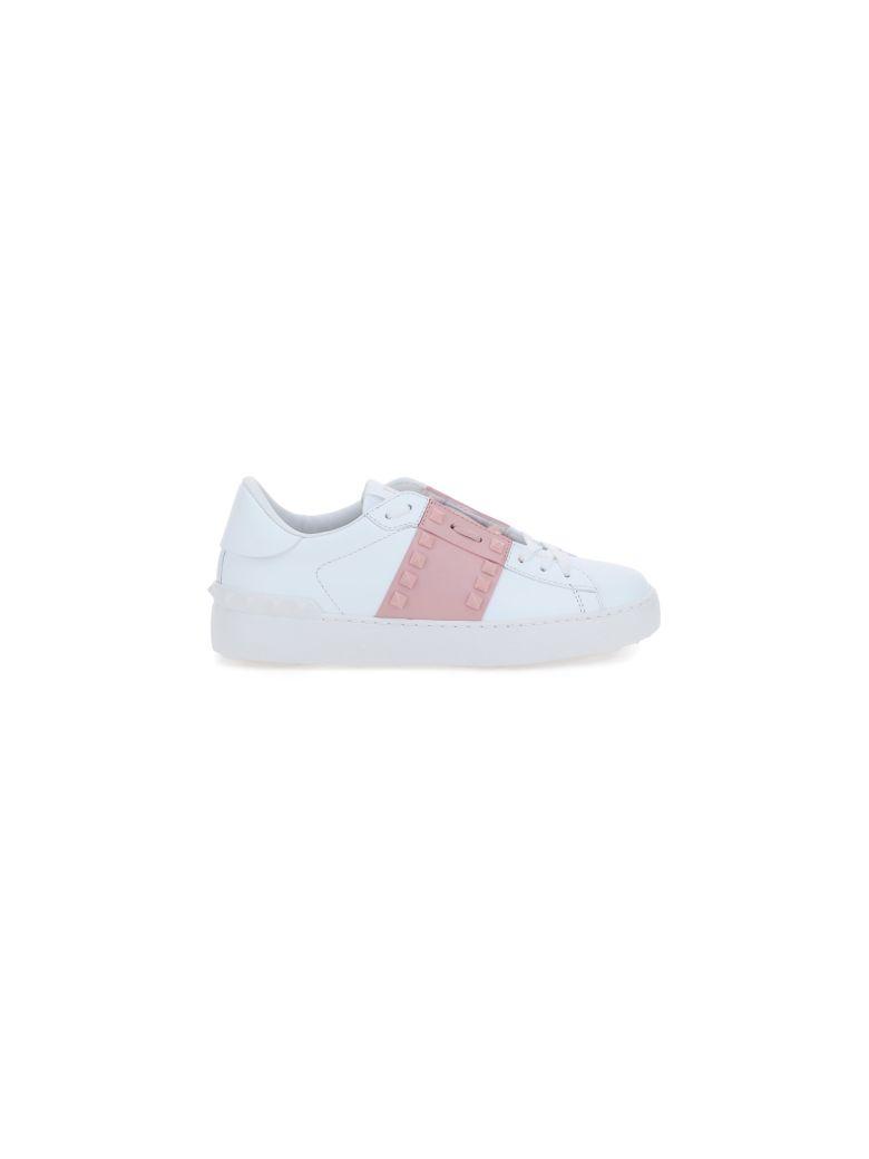 Valentino Garavani Rockstuds Sneakers - Bianco/pale apricot