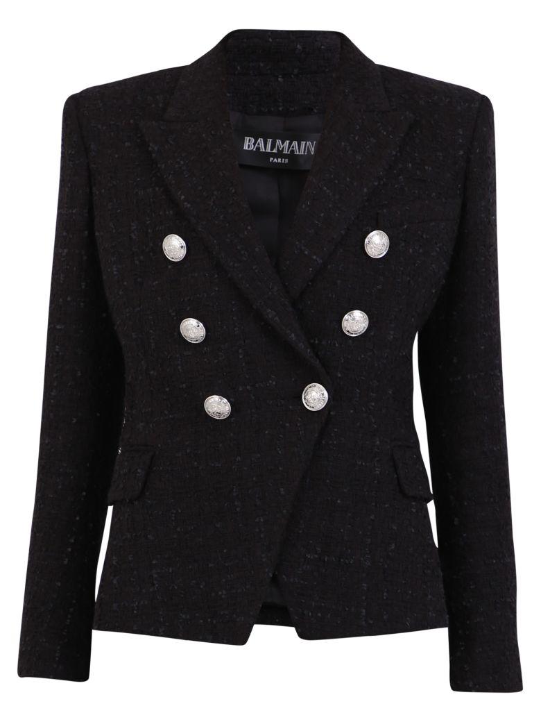 Balmain Double-breasted Jacket - Black
