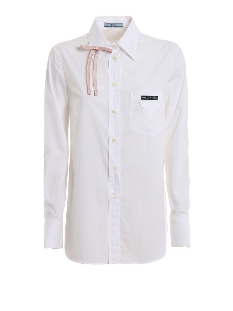 Prada Popeline Shirt - H Bianco+petalo