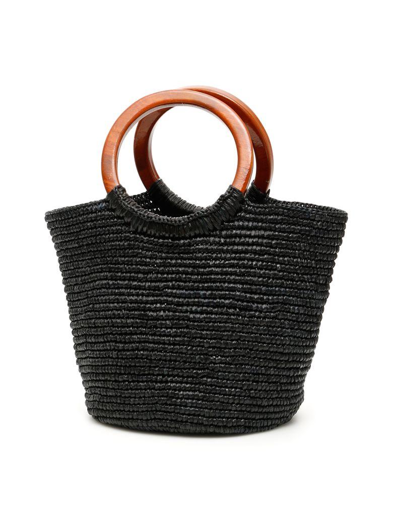 Sensi Studio Wicker Bag - BLACK (Black)