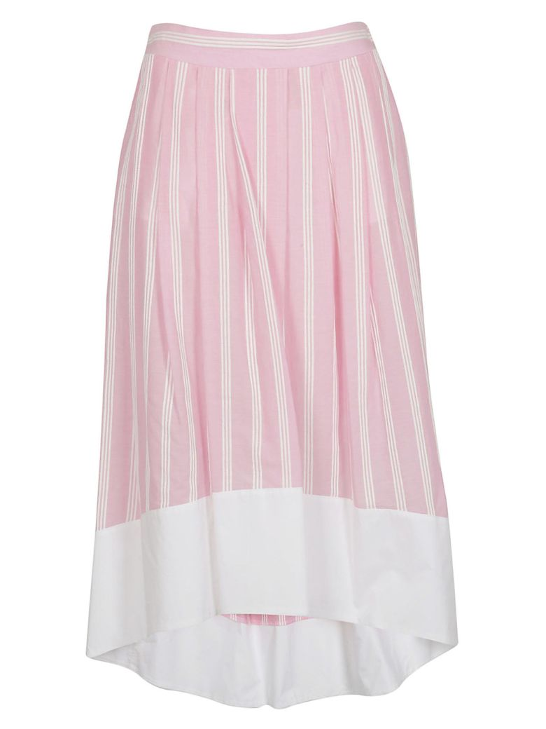 Roberto Collina Striped Print Wide Skirt - Pink