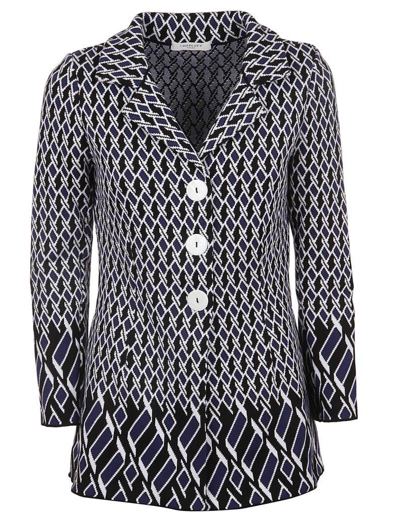Charlott Geometric Jacket - Blu