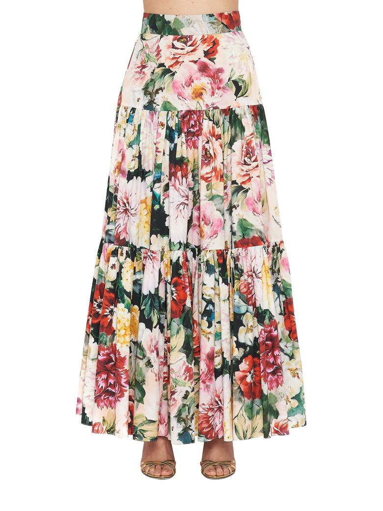 Dolce & Gabbana 'papaveri' Skirt - Multicolor