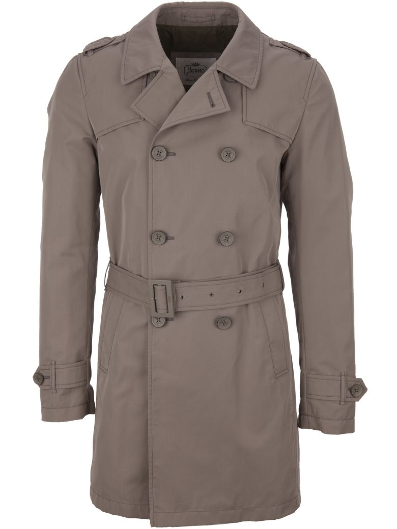 Herno Trench Coat - Grey