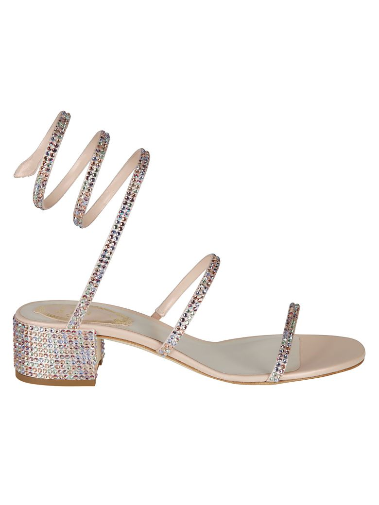 René Caovilla Rene Caovilla Crystal Embellished Sandals - Pink