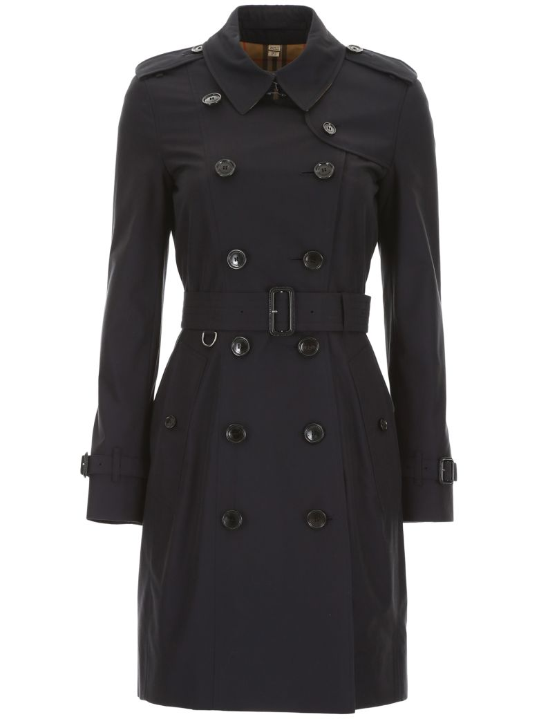 Burberry Chelsea Midi Trench Coat - MIDNIGHT (Blue)