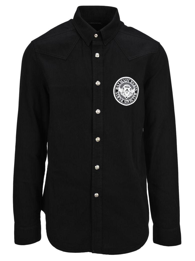 Balmain Denim Shirt - Black