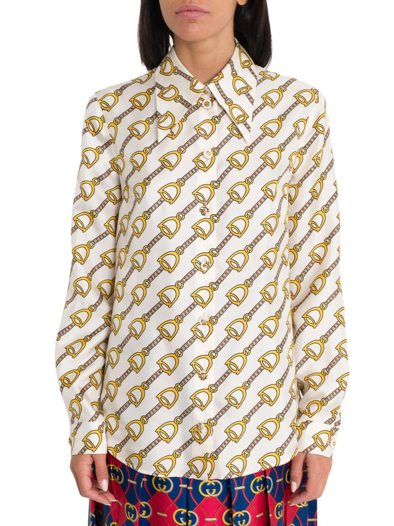 Gucci Stirrups Print Shirt - White