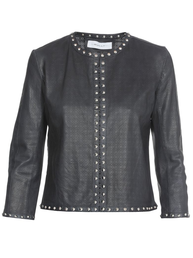 Bully Perforated Stud Chanel Jacket - BLUE