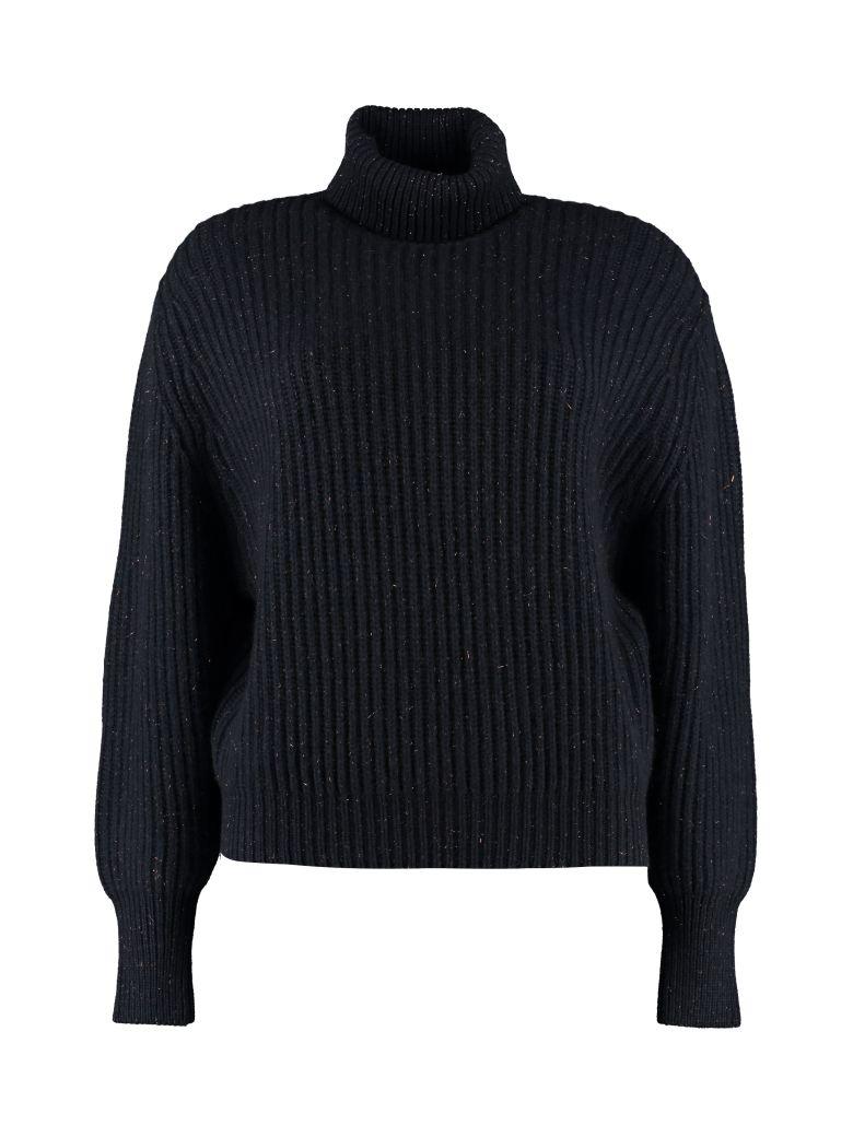 Brunello Cucinelli Ribbed Turtleneck Sweater - blue